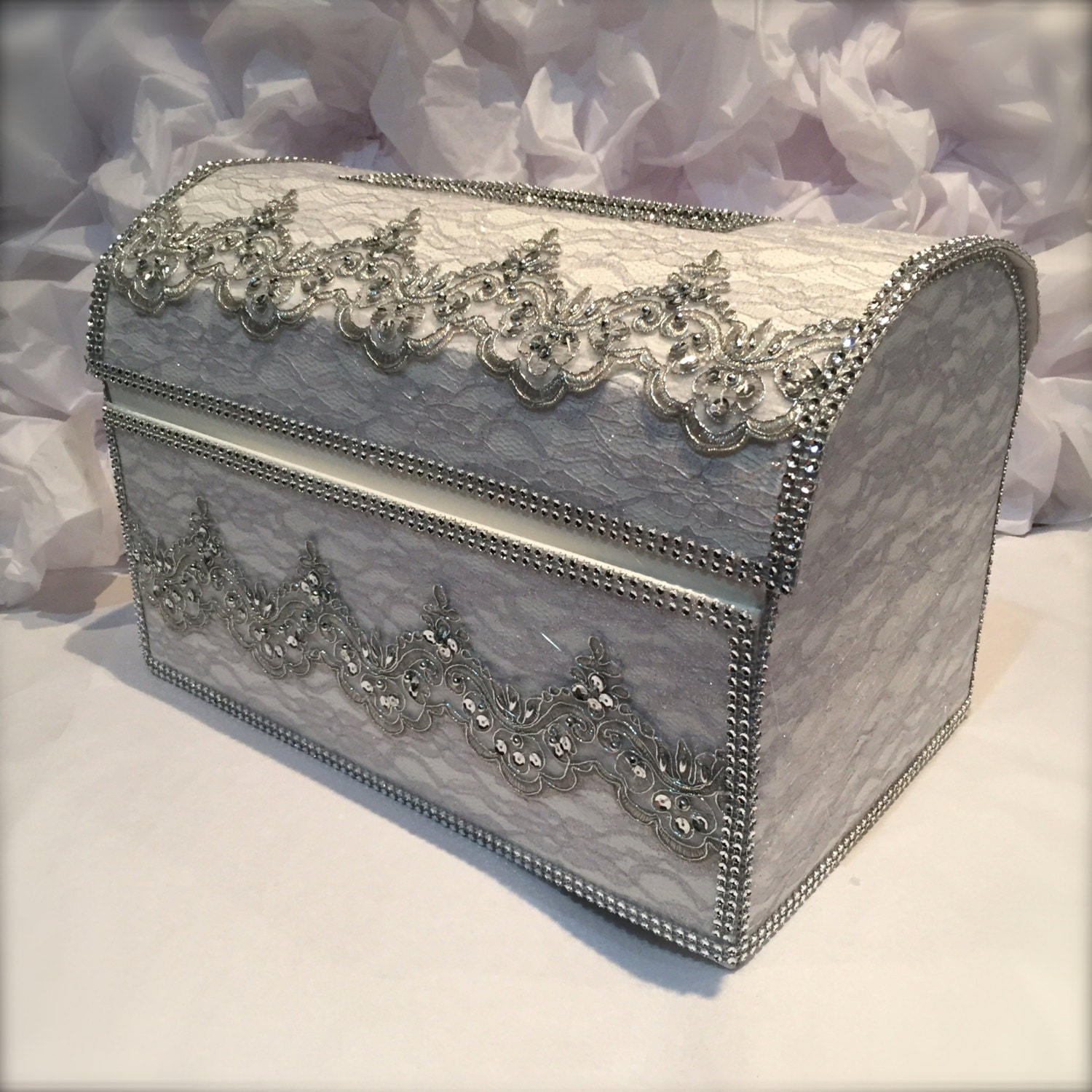 treasure chest money boxwedding card boxsilver wedding card – Wedding Treasure Chest Card Box