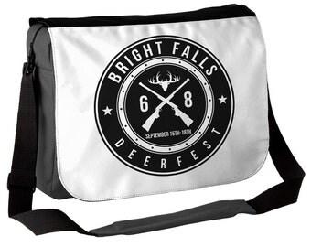 Bright Falls Deerfest - Messenger Bag - Inspired by Alan Wake - Deer Fest Bag V1 (white)