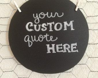 Chalkboard Wreath Backing-Custom Quote