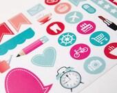 30 matte sampler stickers, sample set, month stickers, planner stickers, checklist sticker, eclp filofax happy planner kikkik plum paper