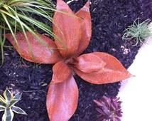 Planta Tropicana, Rustic Recycled Metal Yard Art, Metal Garden Sculpture, Metal Agave, Garden Decor, Southwestern Decor, Rustic Design