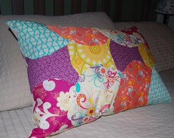 Handmade Appliquéd Throw Pillow