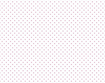 Hot pink Swiss Dot on White