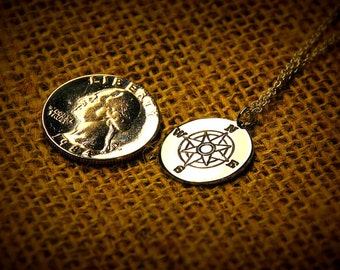 Compass Charm Necklace - Compass Pendant Necklace