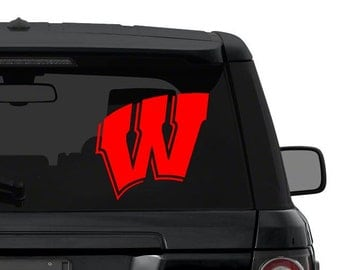 University of Wisconsin (Wisconsin Badgers) decal sticker for car, truck, suv, laptop in ANY COLOR die cut vinyl