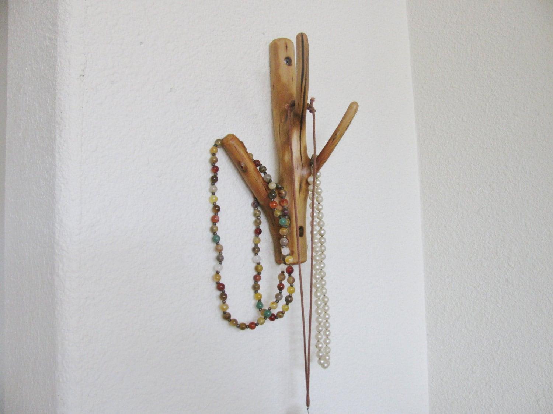 triple naturel accroch bois arbre branche pat re pour bijoux. Black Bedroom Furniture Sets. Home Design Ideas