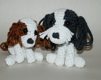 Cute Crocheted Dogs Shih tzu and Spaniel Amigurumi Dog Crochet Dog