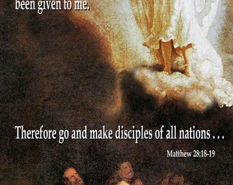 Rem - Therefore Go and make Disciples  / Church or Personal Banners for Your Home or Office (G2915-1)