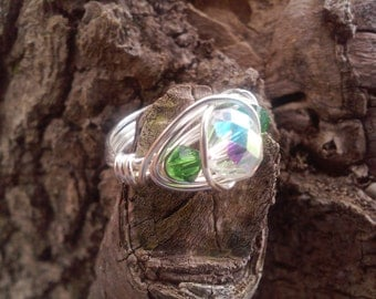 Swarovski crystal Wire Wrapped Ring!