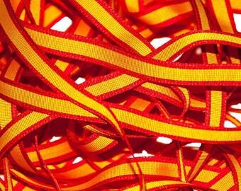 """Spain Flag Spanish 10 mm 3/8"""" Grosgrain Ribbon"""