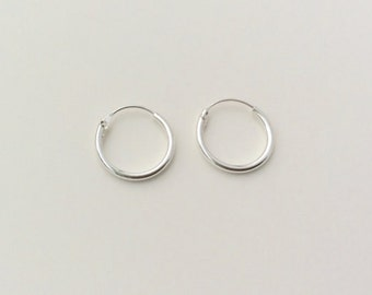 12 mm Sterling Silver Hoop Earrings - Silver Hoop Earrings - Tiny Hoop Earrings - Hoop Earrings - Small Hoop Earring -  Silver Hoop Tiny