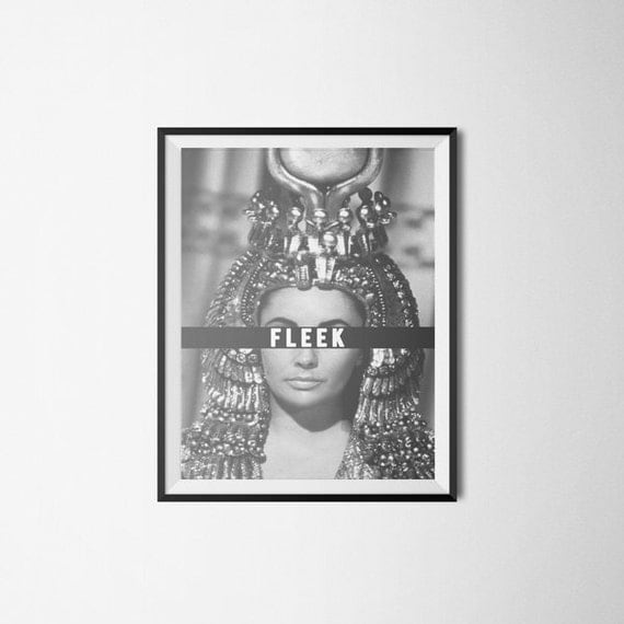 Elizabeth taylor cleopatra celebrity pop by dominadesignsla for Black and white celebrity prints