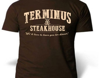 Walking dead  Terminus we'd love to have you for dinner t shirt tee