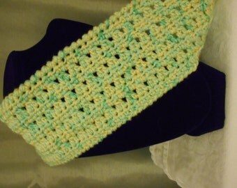 Crochet Light Green & Yellow Cowl