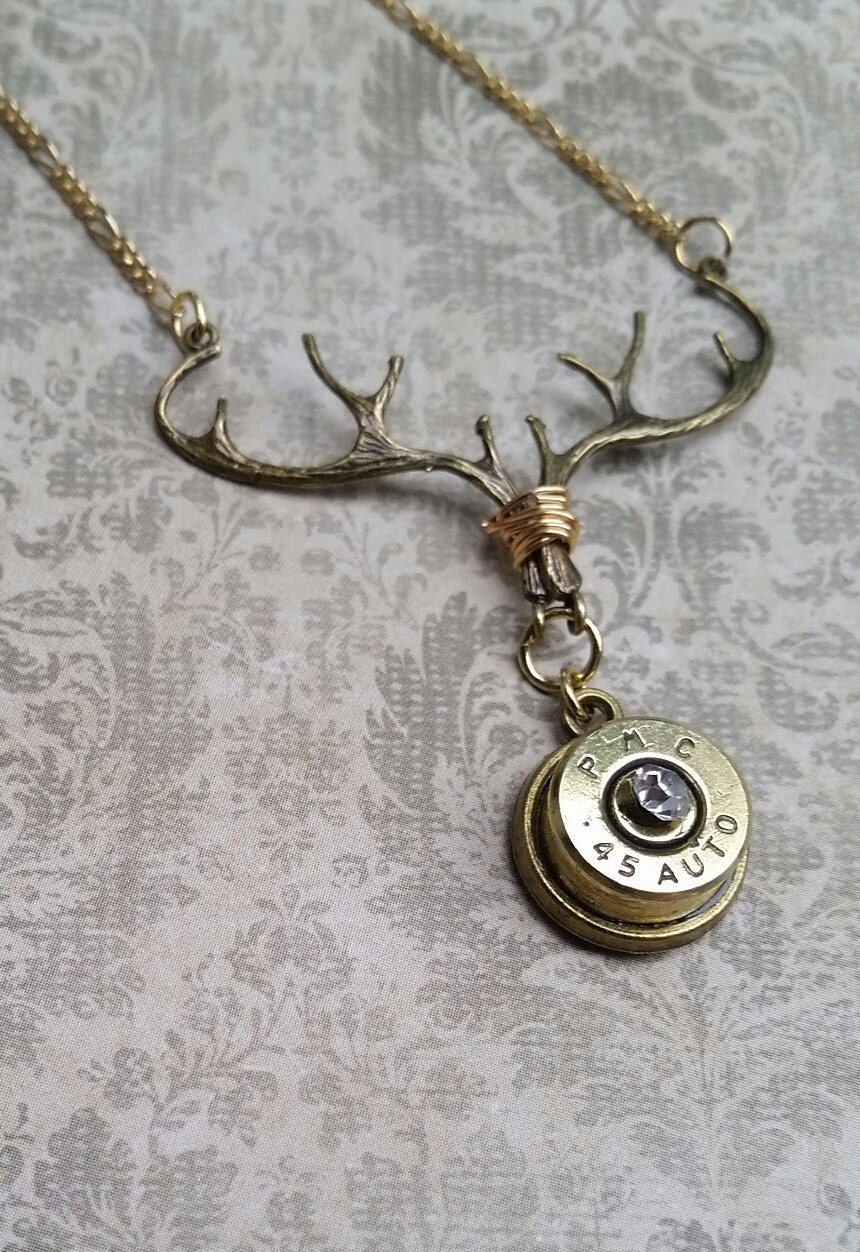 bullet necklace deer antler bullet jewelry by