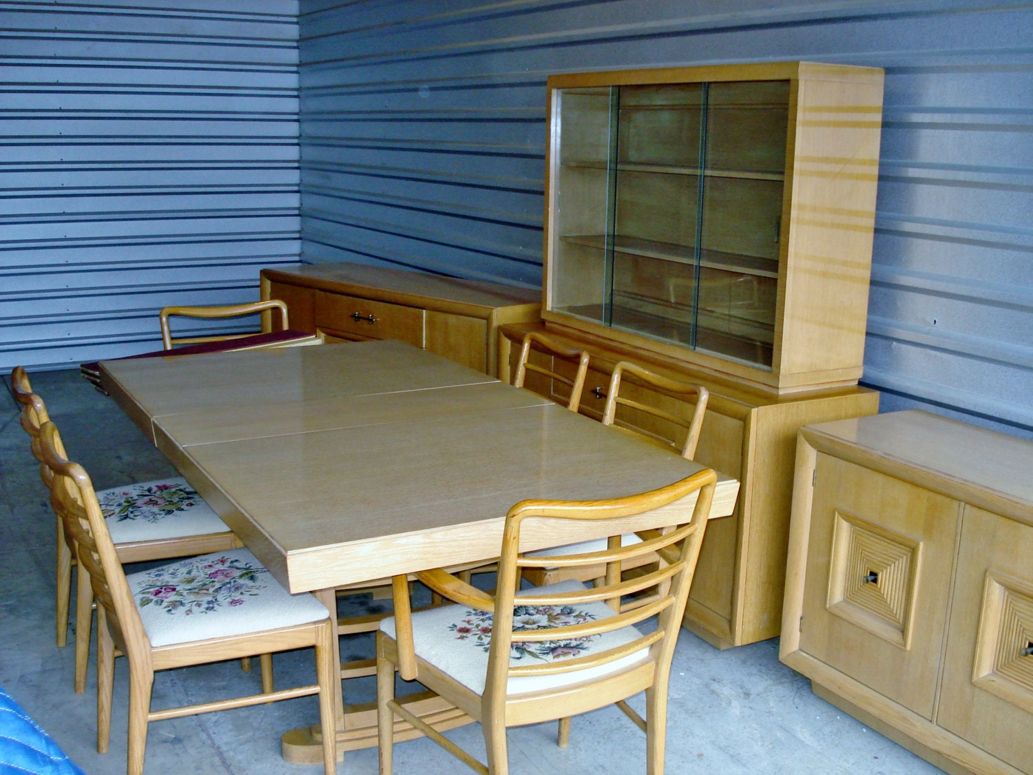 mid century modern furniture 10 pc dining room set