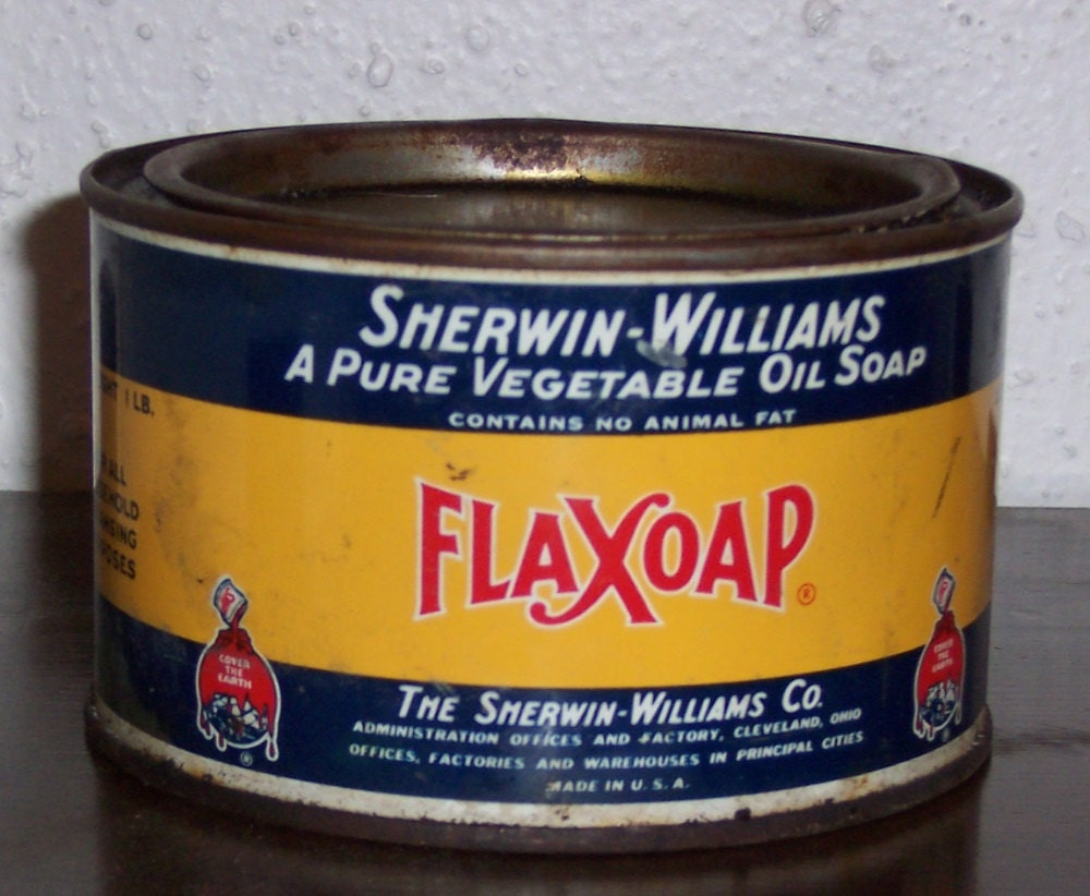 Vintage sherwin williams flaxoap pure vegetable oil soap for Soil x cleaner
