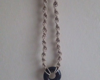 swirl necklace with pendant