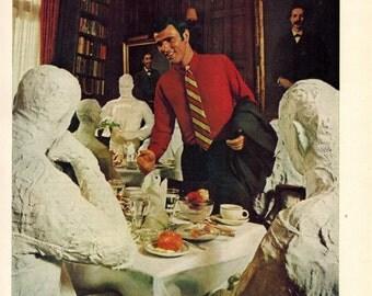 "Vintage Print Ad 1969 : Van Heusen ""The people who unstuffed the shirt"" Advertisement Color Wall Art Decor 8.5"" x 11"""