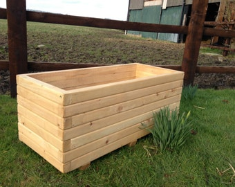90cm Long Wooden Planter