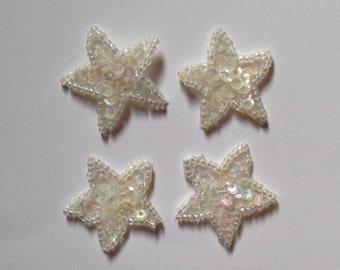 White Sequin Stars