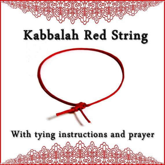 Pulsera de hilo rojo de Kabbalah con atar instrucciones y Ben Porat oración para la protección