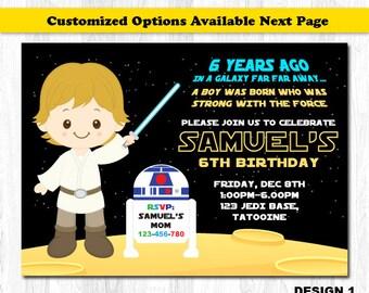Star Wars Invitation Star Wars Birthday Invitation Star Wars Etsy, Birthday  Invitations