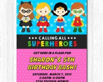 Girl hero Invitation