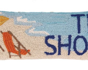 The Shore Hand-Hooked Pillow