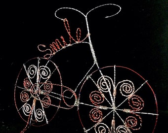 Smile Bicycle Wire Art