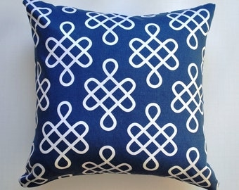 Blue pillow cover, Blue Decorative pillow, blue throw pillows, Royal blue cushion, blue & white cushion, pillow cover, nautical pillow cover
