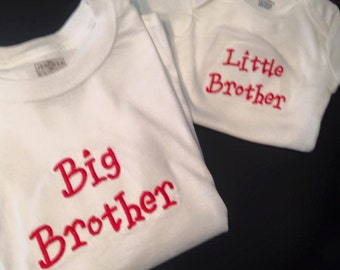 Custom Embroidered Sibling Shirts!!!