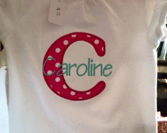 Custom Applique Name Shirts for boys or girls!!!