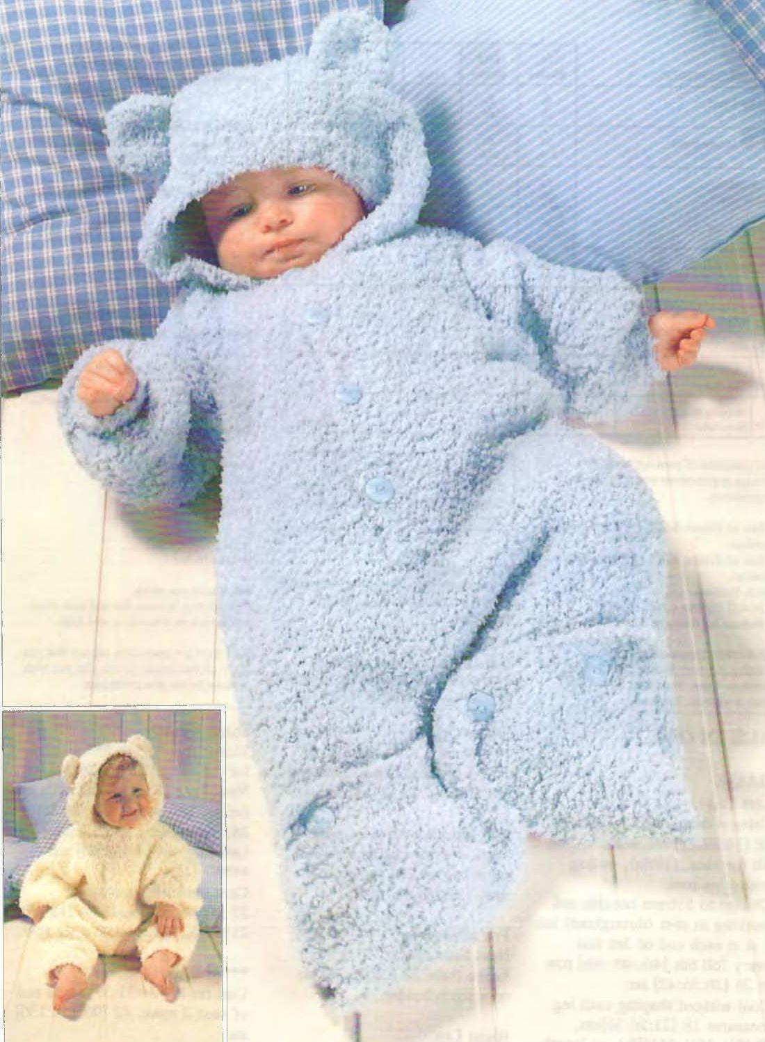 Knit Baby Sleeping Bag Vintage Pattern 3 months 4 years