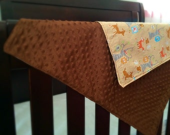 Minky Baby Blanket - Forest Animals