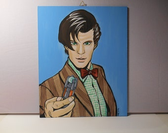 Doctor Who eleventh doctor - Canvas 24x 30