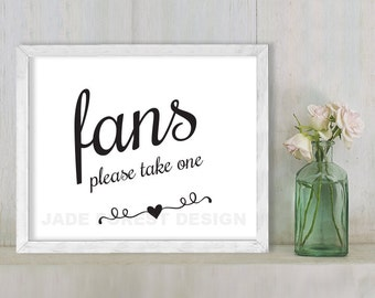 Fans, Please Take One // Wedding Sign DIY // Elegant Calligraphy Printable Poster PDF // Classic Elegance ▷ Instant Download