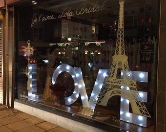 Wedding Big LOVE Light Up Letters 1m Tall for Hire
