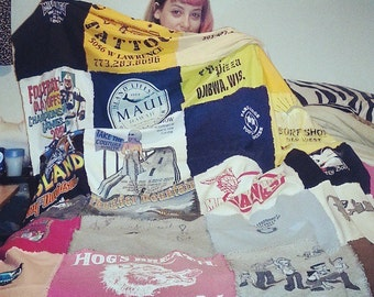 Custom Quilts Made From Your Old T-Shirts!