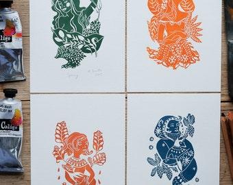 Four Seasons – set of four prints
