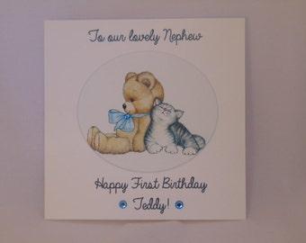 Personalised Handmade Nephew/Son/Grandson Birthday Card