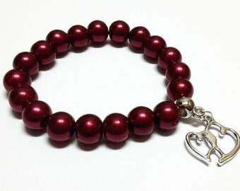 Hearts in red bracelet