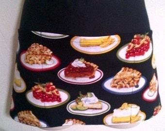 Handmade server  waitress waist apron pies with three pockets 6797