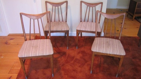 Century Modern Dining Chairs by Keller set of 4