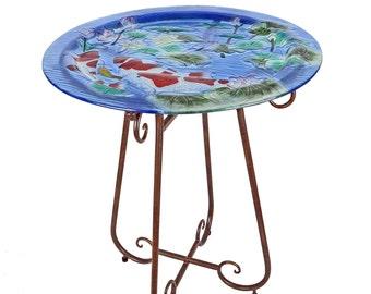 Handmade Glass Bistro Table Set