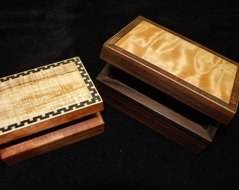 Just For You. Custom made artisan wooden keepsake / jewelry boxes made to your specifications.