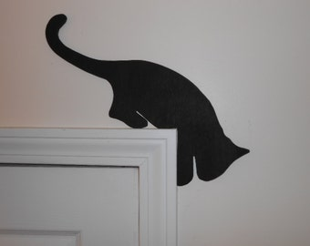 Wood Cat Door Topper (four poses)