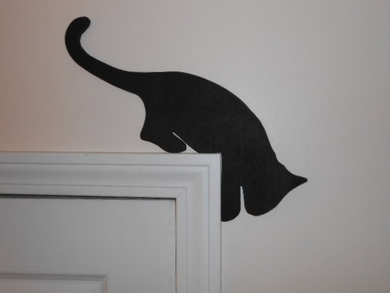 Like this item? & Wood Cat Door Topper four poses Pezcame.Com