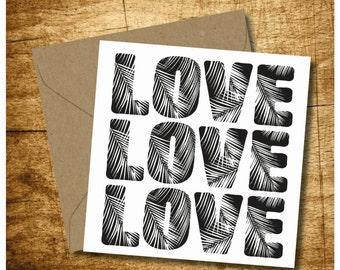 Hawaiian Love Card