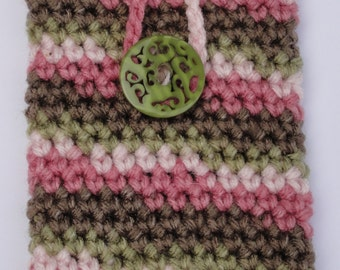 Crochet Pink Camo Cell Phone Cozy
